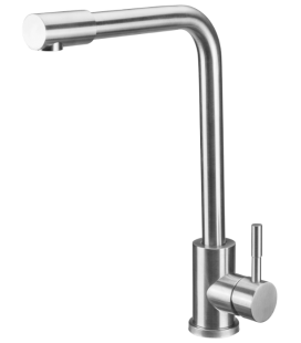 Baterie Bucatarie Lebada Tip L INOX 5001 lungime 220 mm, inaltime maneta 95 mm, inalțime utilă 310 mm, inaltime totala 340 mm