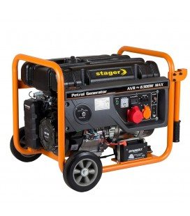 Generator open frame benzina Stager GG 7300-3EW Pornire electrica